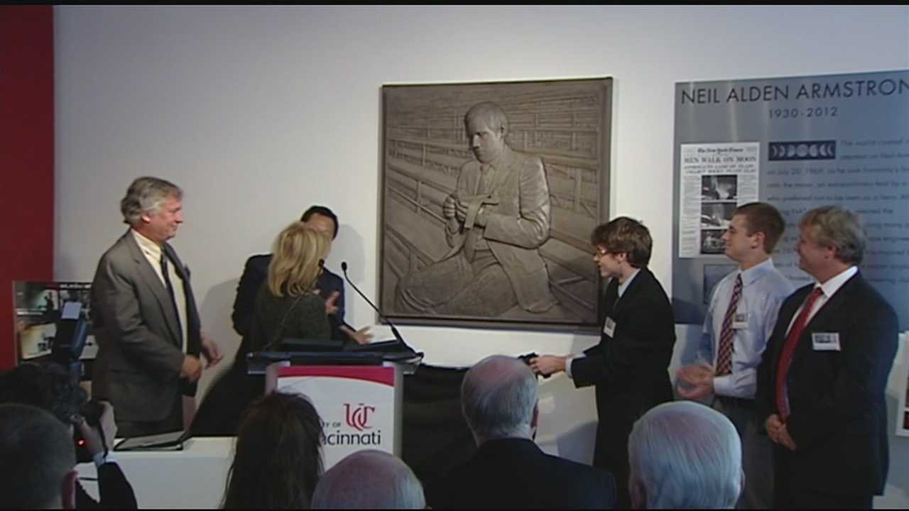 The University of Cincinnati unveiled their new Neil Armstrong Space Science Institute in honor of the astronaut on Wednesday.