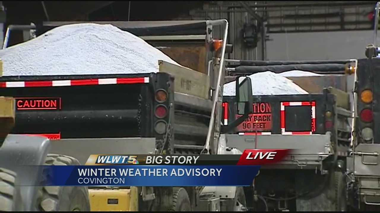 Kenton County Maintenance Barn prepares to treat slick spots on road
