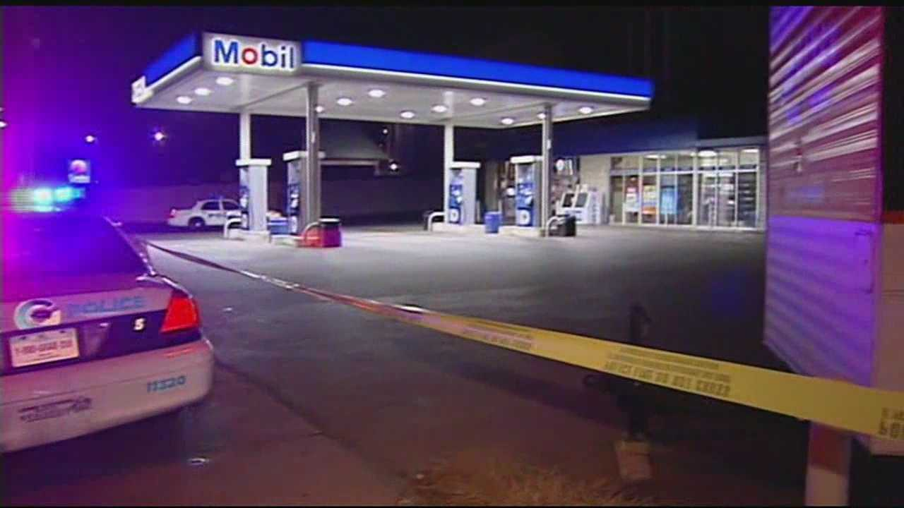 Cincinnati police were called to the Marathon gas station in the 100 block of West Mitchell Avenue at about 10 p.m. Saturday.