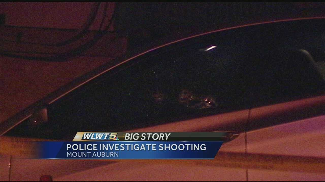 Cincinnati police said the victim was sitting in her car in the 100 block of Kinsey Avenue about 6:50 p.m. when someone approached her car and shot her.