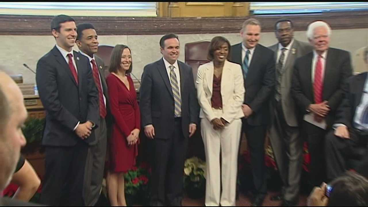 Cranley and the new city council members were sworn in at City Hall in a public ceremony Sunday morning.