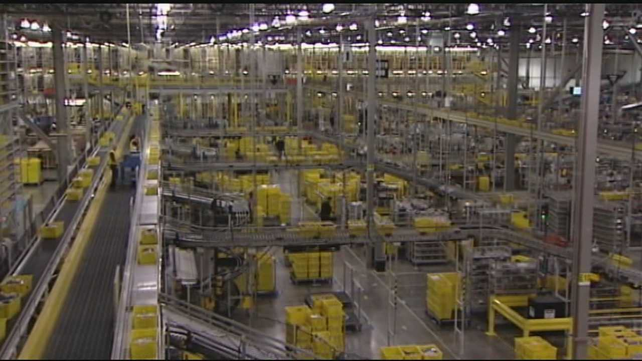 Amazon's facility in Hebron busy thanks to Cyber Monday