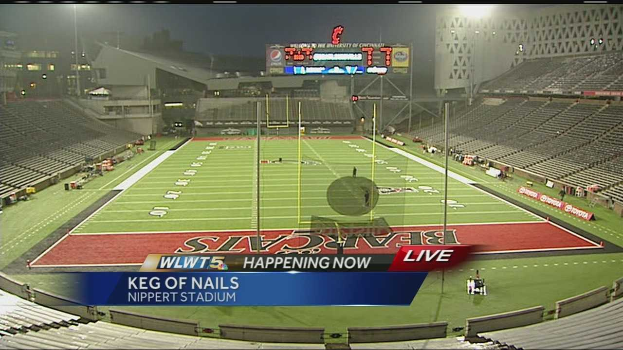 The UC Bearcats play Louisville Thursday night for the Keg of Nails at Nippert Stadium.