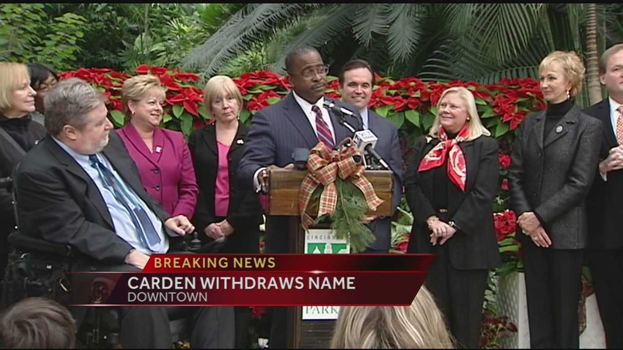 Carden was nominated by Mayor John Cranley last week and introduced to the city last Wednesday at Krohn Conservatory.