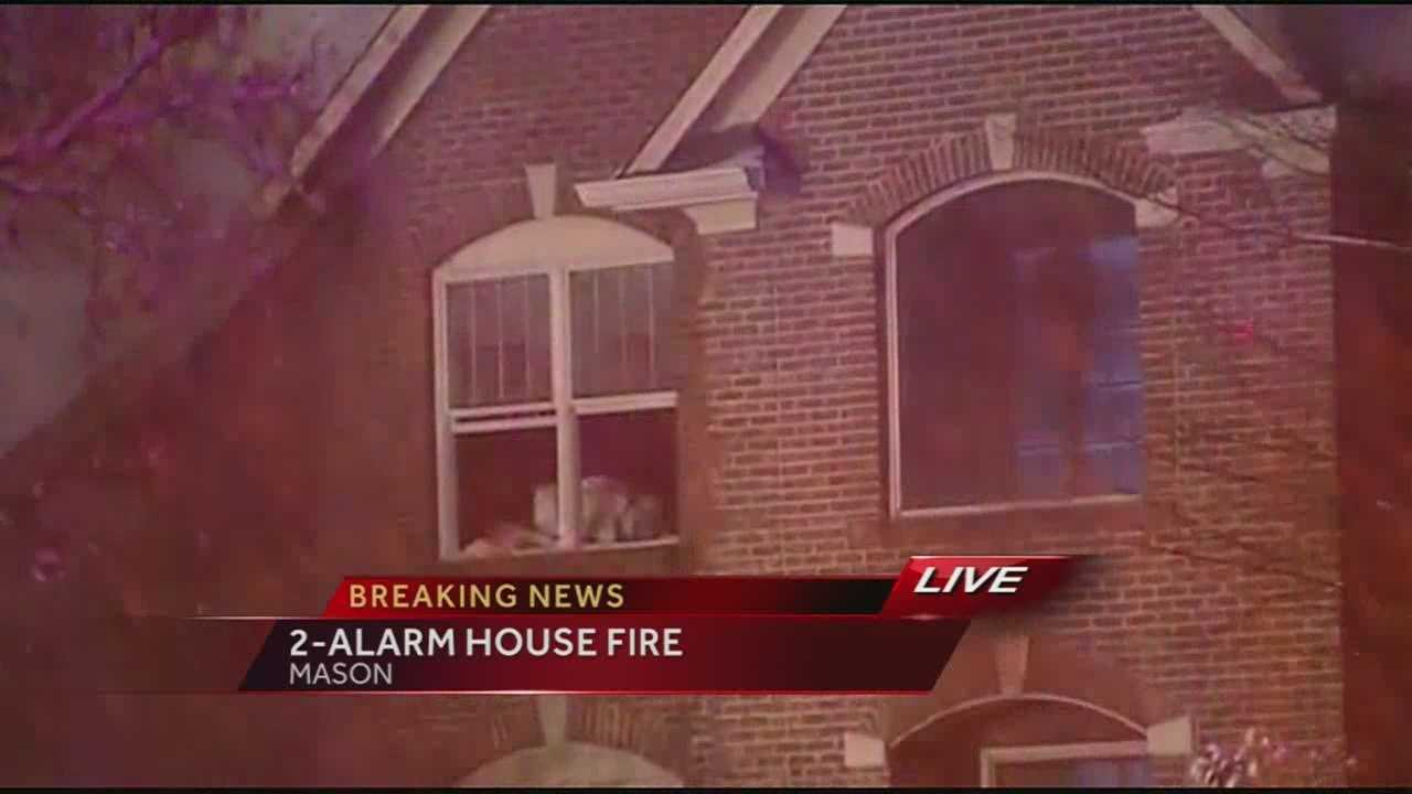 A large home in Mason suffered significant damage Tuesday morning when a fire broke out inside.