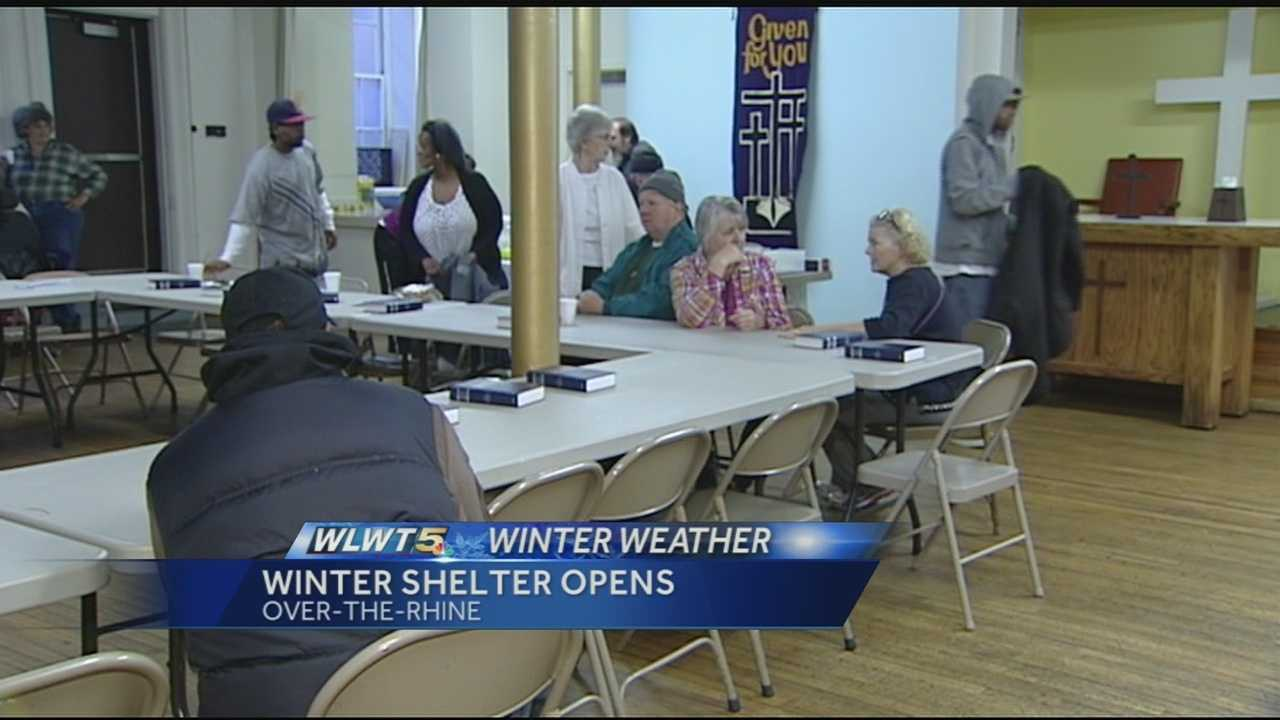 Winter shelter opens as temperatures fall