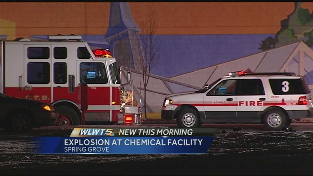 A late night explosion caused no injuries at a chemical company in Spring Grove Village.