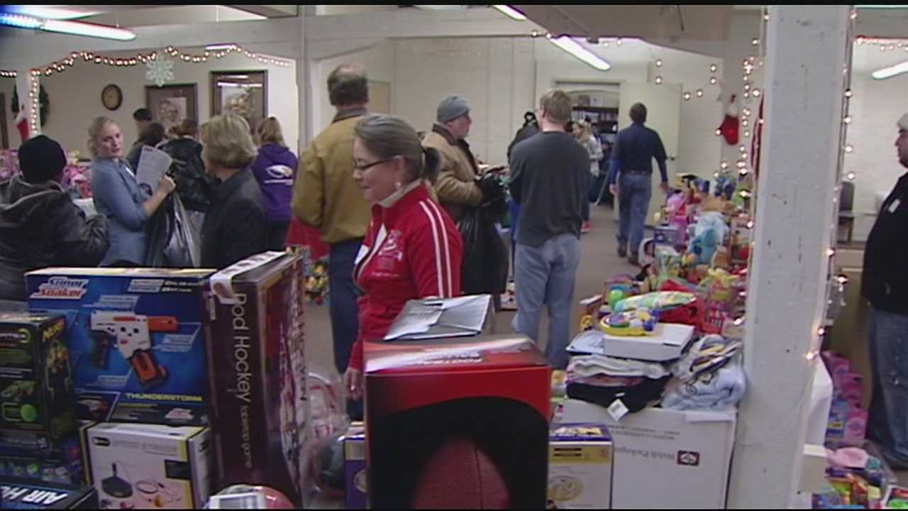 St. Vincent de Paul opened its doors for its annual family toy giveaway Saturday.