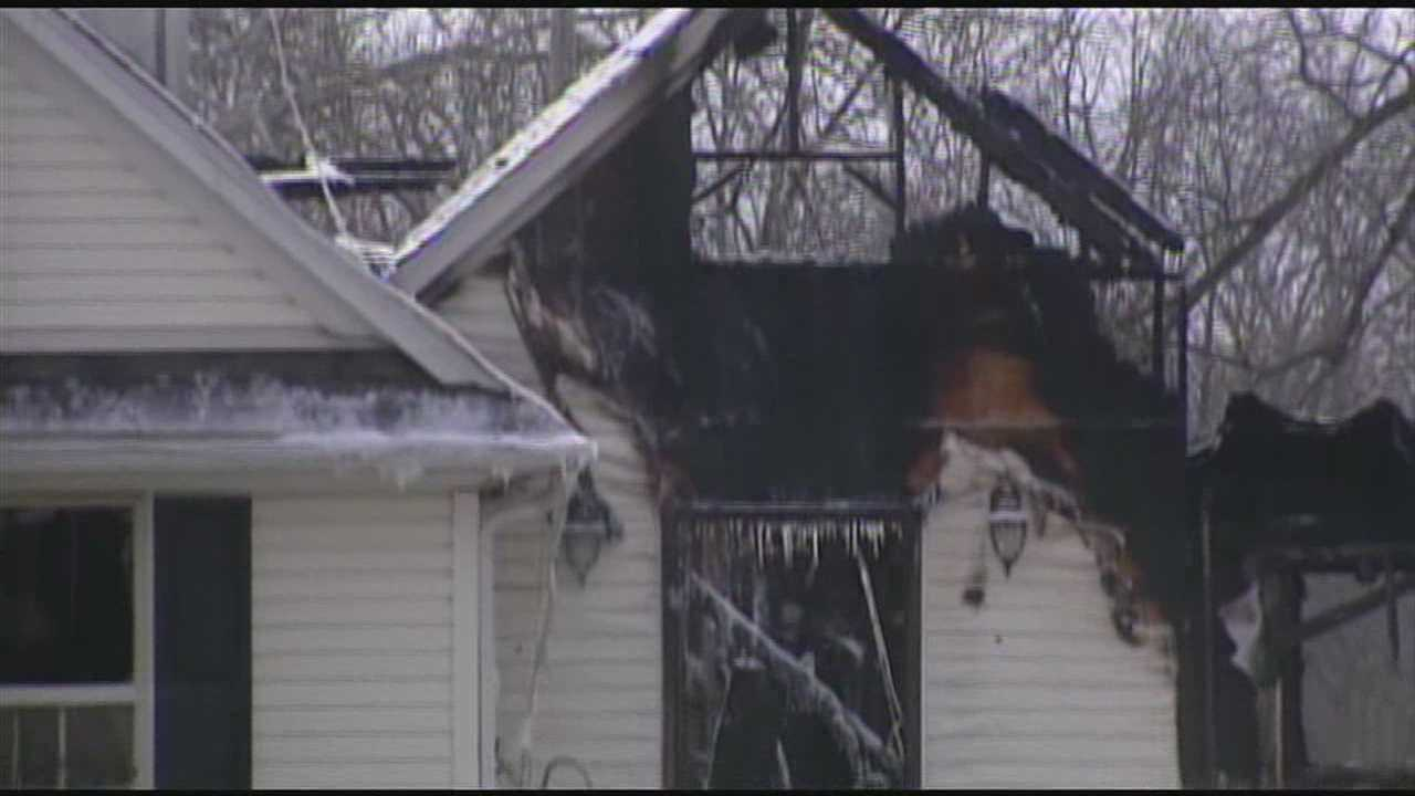 Family members told WLWT News 5's Karin Johnson that the couple who lived in the house were at a relative's Christmas celebration when the fire broke out.