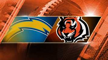 BENGALS LOSE 27-10. Playoff round 1: #6 Chargers at #3 Bengals. For the second time in a month, the Bengals will play the Chargers. This time the game will be in Cincinnati. It's the first home playoff game the team has hosted since 2009. The game kicks off on Sunday, Jan. 5 at 1 p.m. at Paul Brown Stadium.