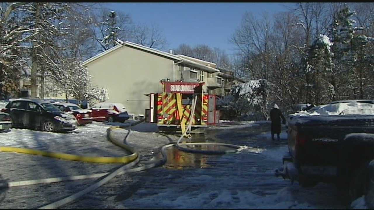 The fire was brought under control within minutes, but additional departments were needed because of the bitter cold weather.