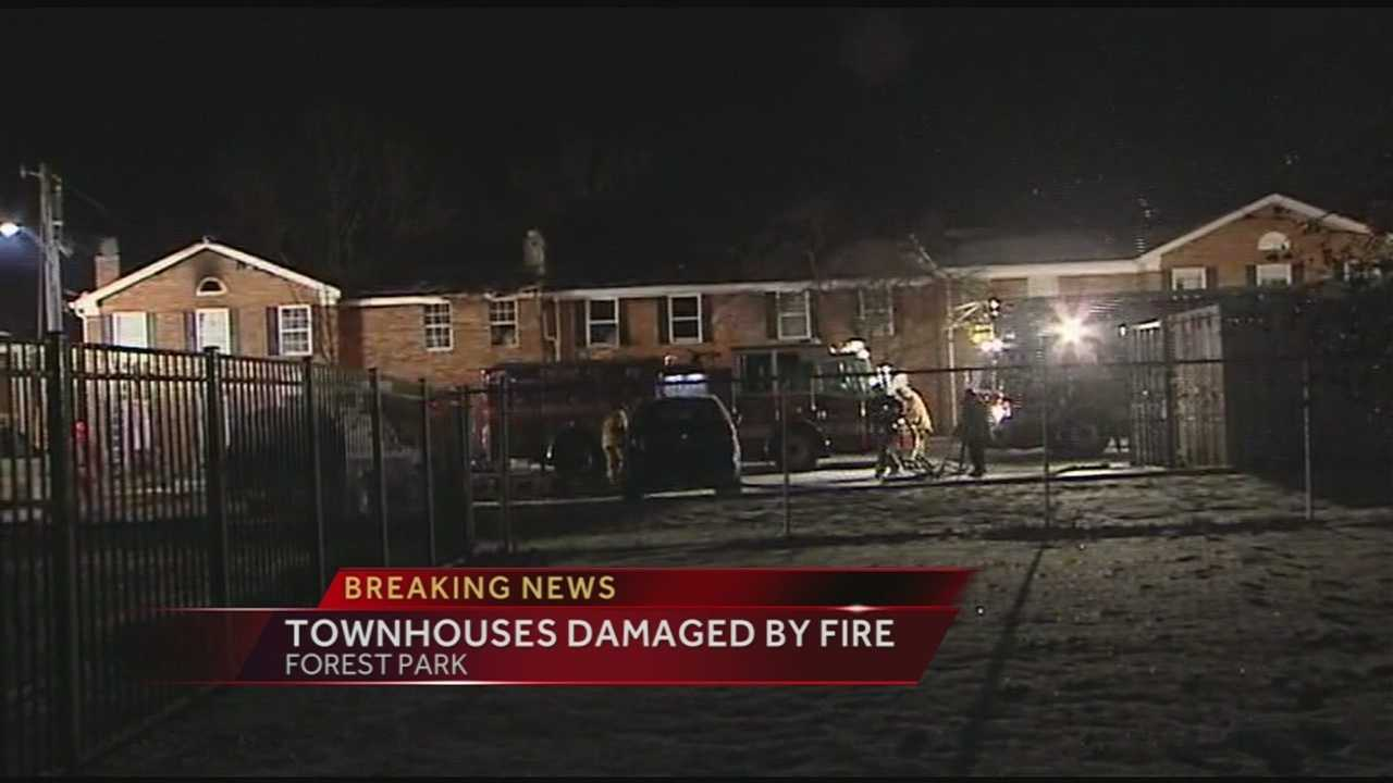 The freezing weather hampered efforts to fight a fire in Forest Park early Monday