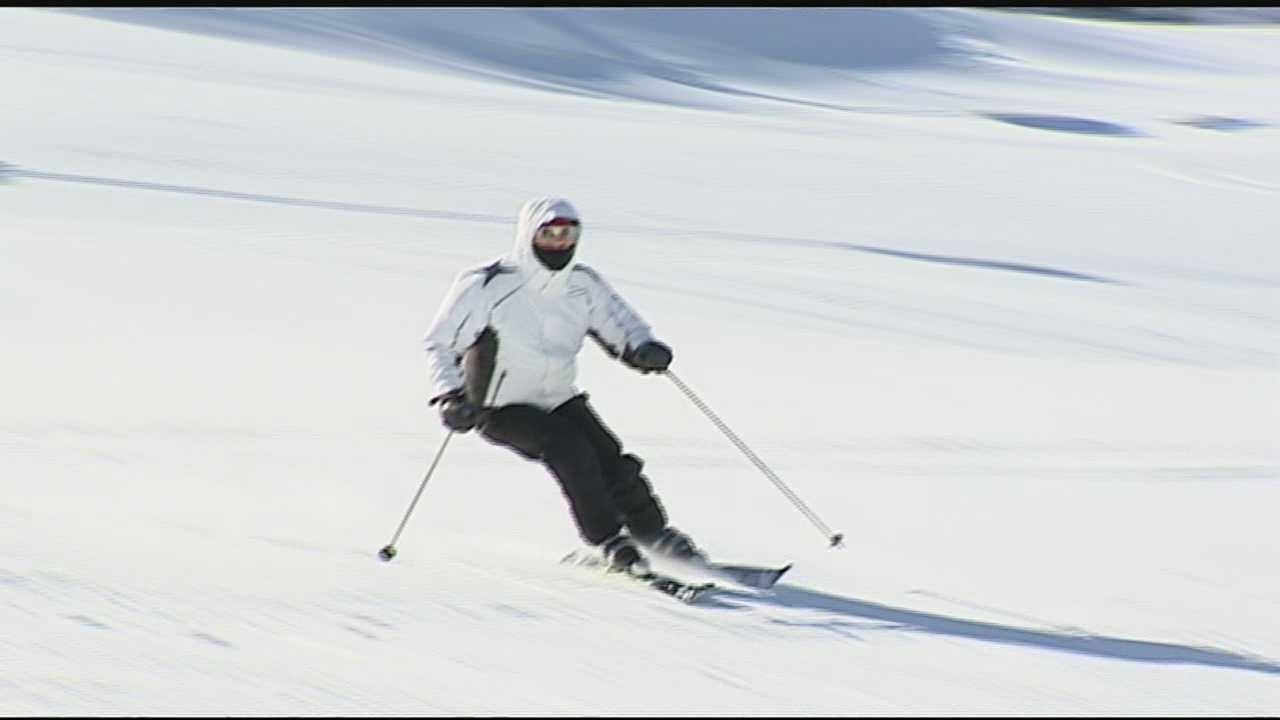 Even through the bitter cold temperatures, hundreds of skiers braved the slopes again when skiing reopened at noon.