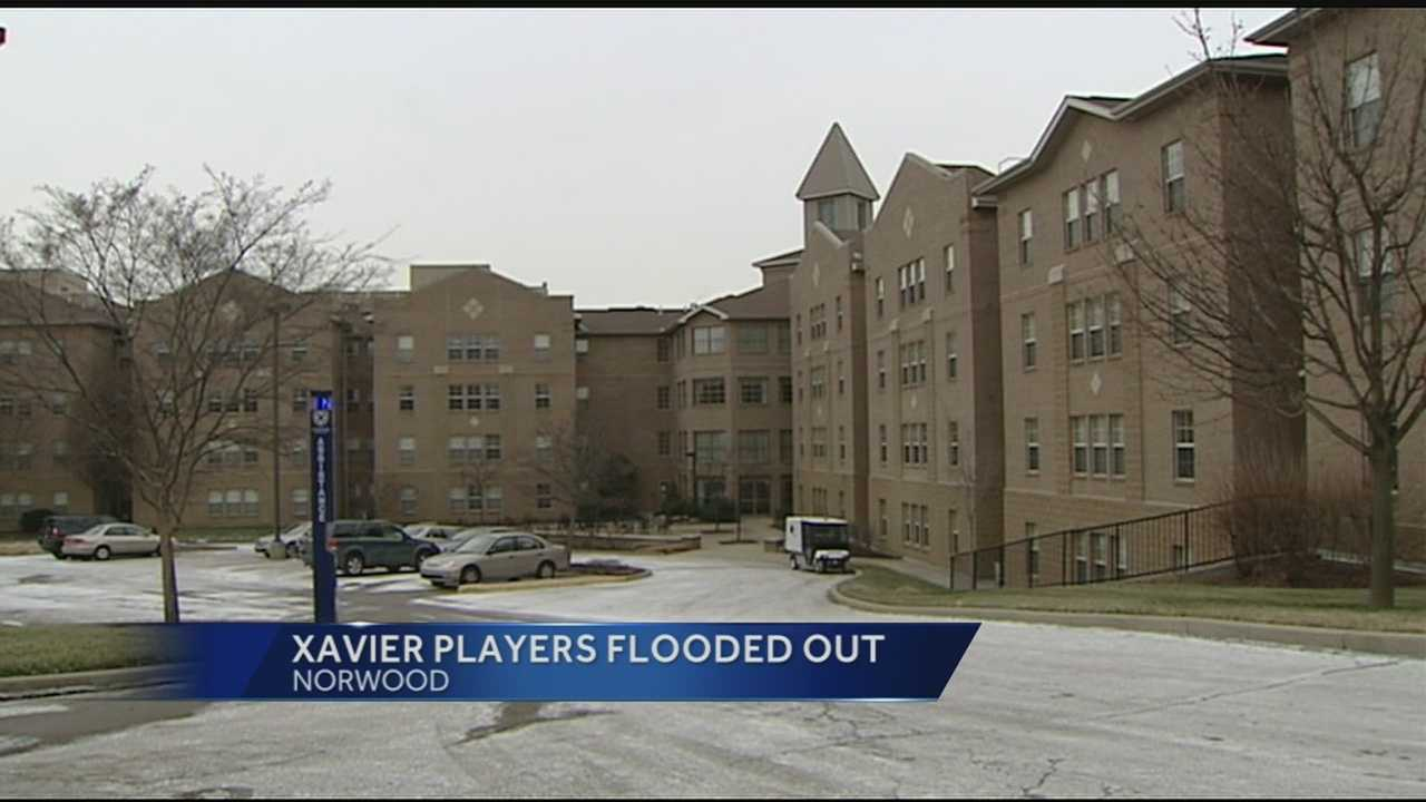 img - xavier players flooded out of locker room