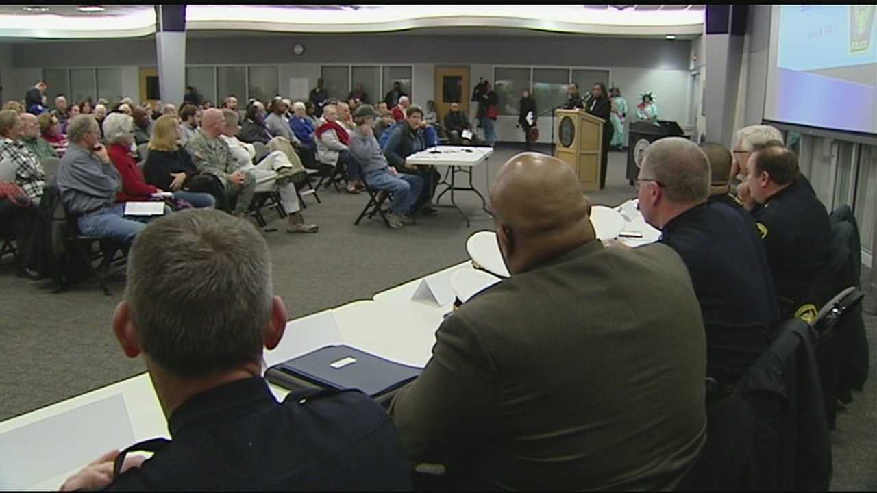 He and his command staff met Wednesday with citizens on the West Side, the first of five town hall sessions designed to take in as much citizen input as possible.