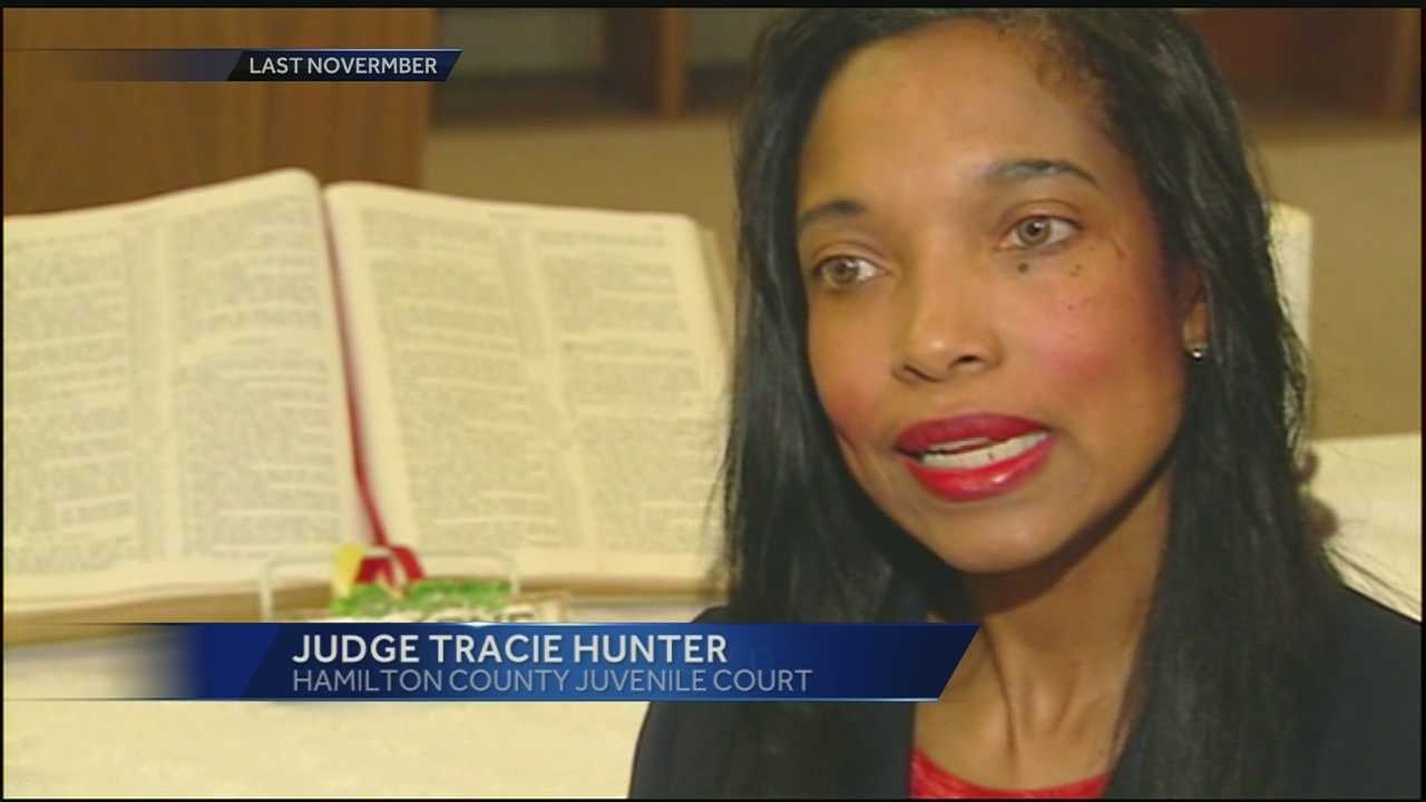 Hamilton County Juvenile Court Judge Tracie Hunter was indicted on eight felony charges Friday.