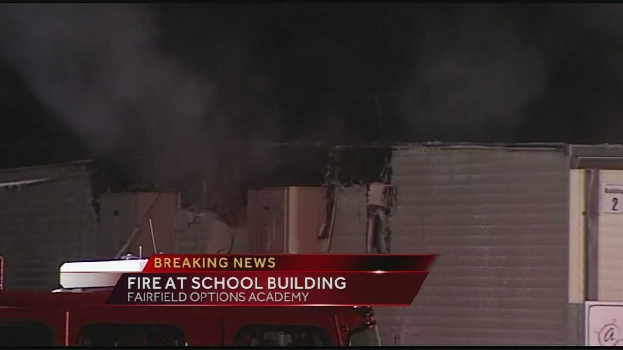 School closed after fire in detached building