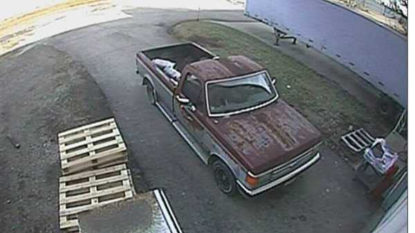 pickup used in propane tank theft