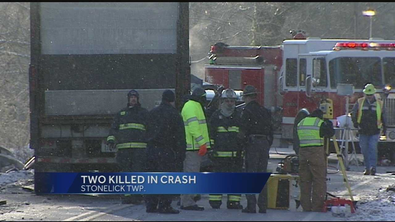 Michael Brown, 43, and Shawn Wilson, 39, were killed when a semi separated from its trailer. The trailer hit two pickup trucks killing both drivers. Two other cars were involved in the wreck, but those drivers were not injured.