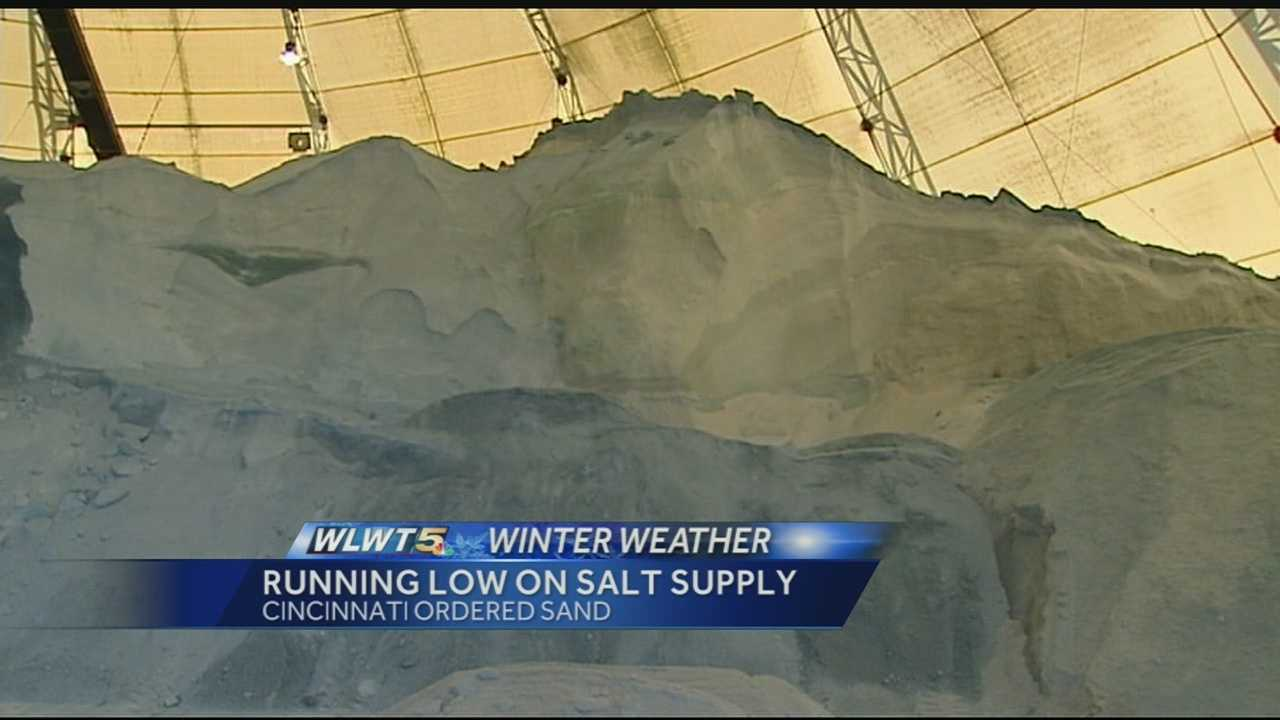 The city has ordered sand to mix with it's salt supply with necessary.