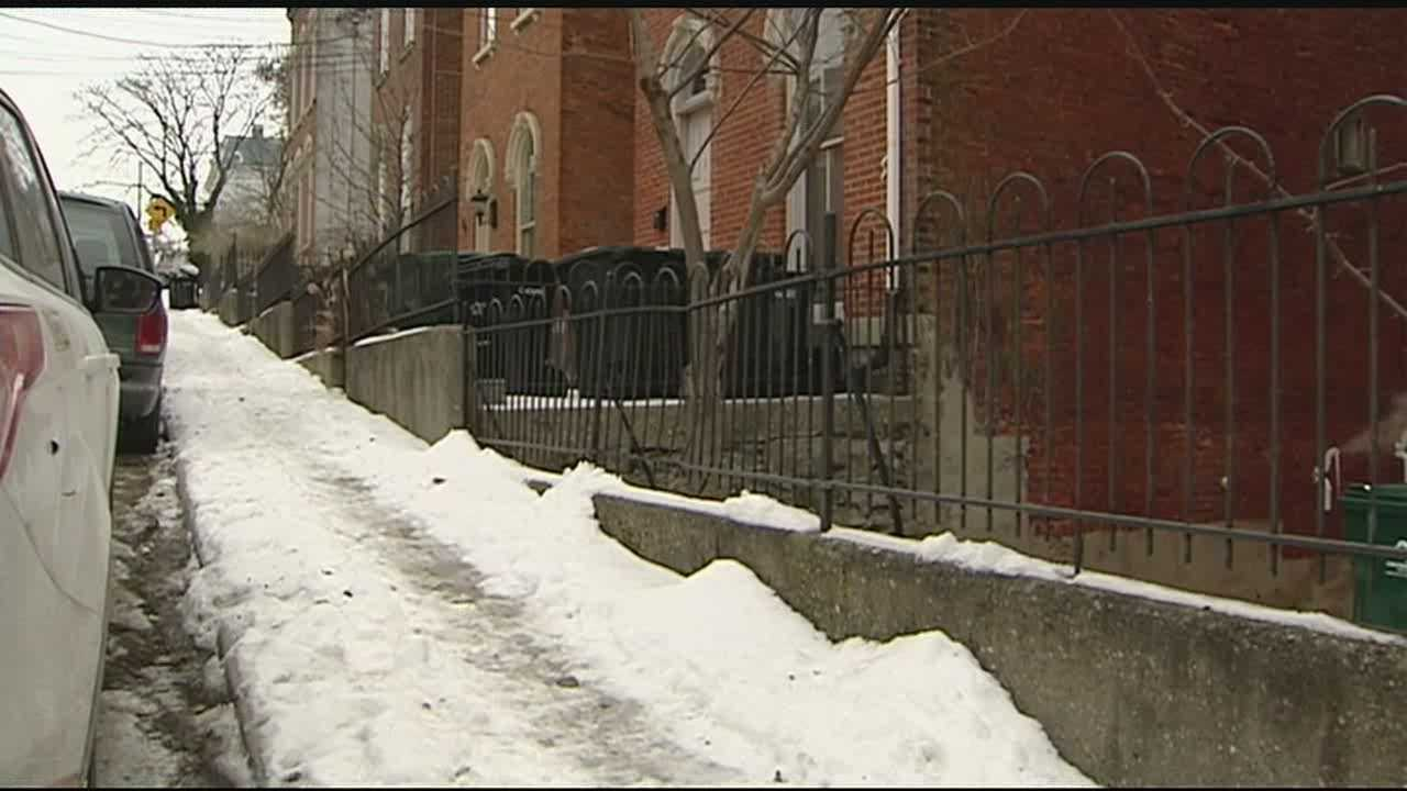 According to the city's sidewalk safety program, clearing the sidewalk is the responsibility of the property owner. The property owner would only see liability if they purposely made it worse by manipulating the snow and ice. For those walking the icy pathways, safety comes to mind before legal liabilities.