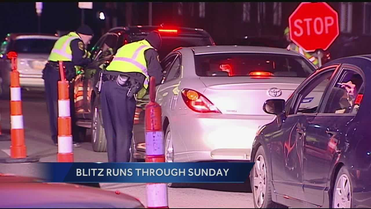 Police are having their own blitz this weekend as they step up patrols to crack down on speeding, impaired driving and not wearing seat belts.