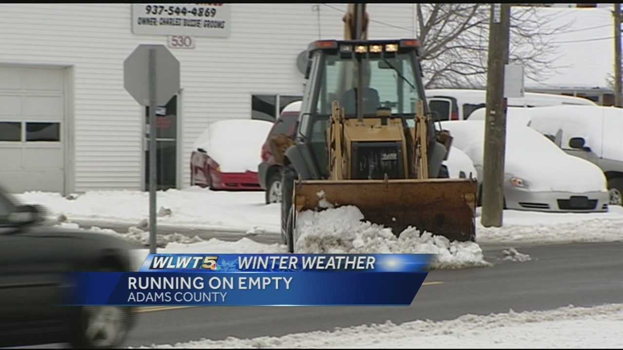 Adams County says it has between 50-100 tons of road salt left for the winter.