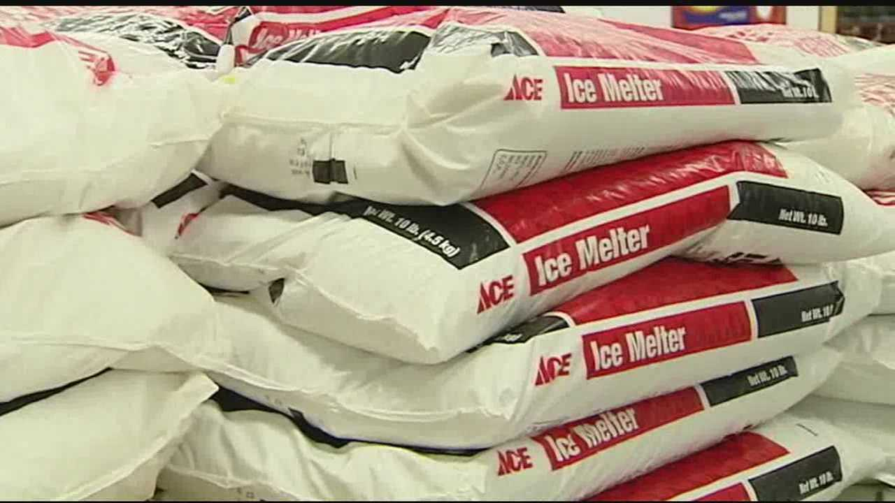 Salt and ice melter are not the only supplies in short supply. Hardware stores are saying supplies like shovels, salt and heaters are in high demand, but they don't know if they will have enough for everyone with the delayed shipments of products.