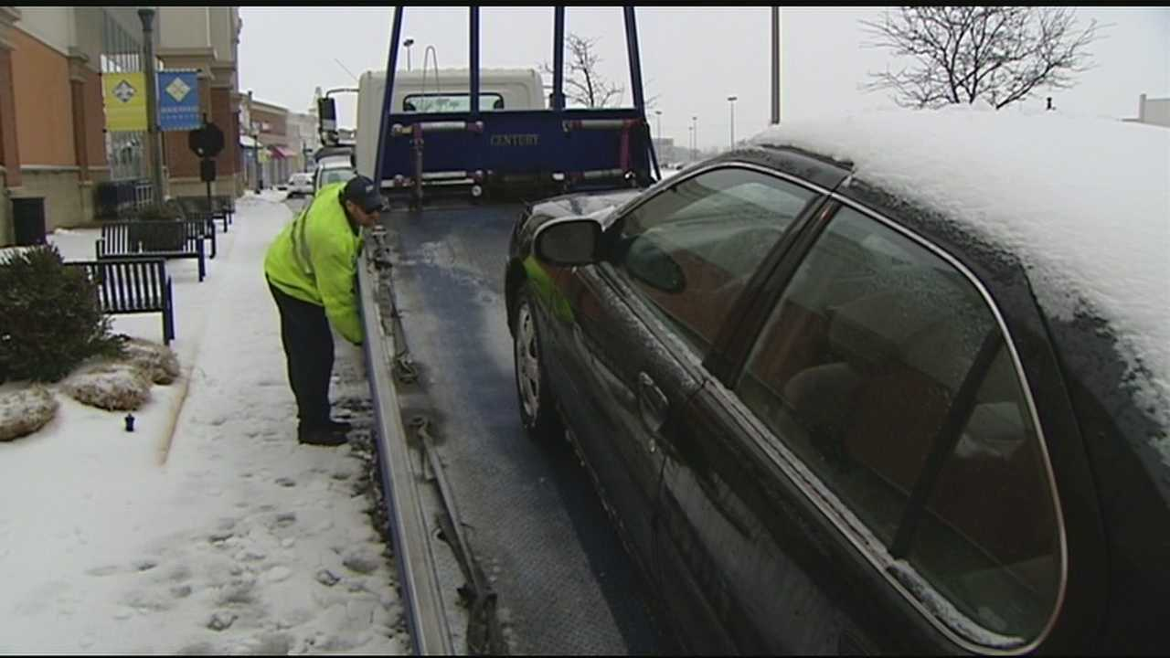 The winter weather has left a lot of drivers stranded. Last winter at this time AAA recorded 10,942 calls for towing. This year the total has jumped to 13,581. Tow trucks are in high demand, and their work is far from over.