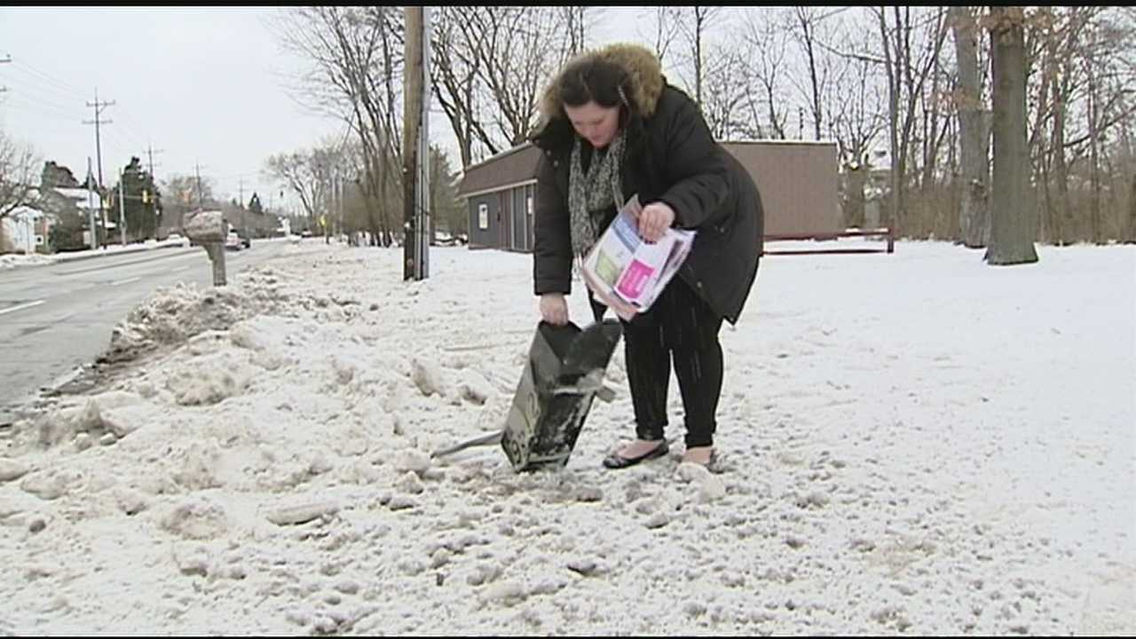 The streets became obstacle courses for plow drivers. The trucks knocked down mailboxes and damaged cars as they drove by, and it has left people asking who is responsible for the damage left behind?