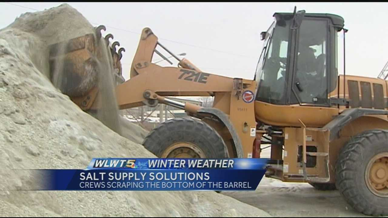 Cincinnati officials say they have enough salt to get through this winter storm but other cities had to borrow some to get through the Valentine's Day snow.