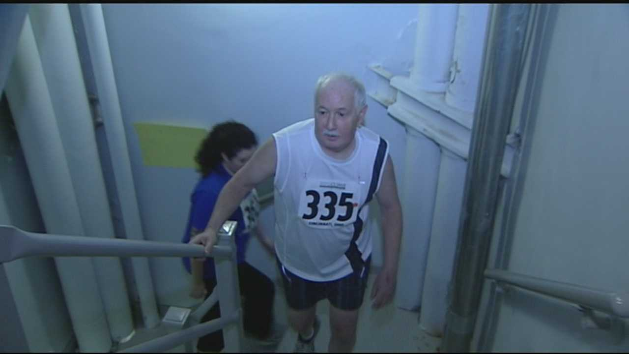 It was the ninth annual stair climb at the Carew Tower in an effort to raise money and awareness for lung disease.