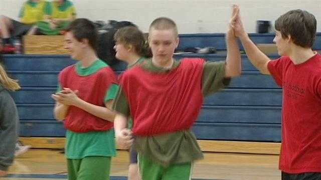 The Hamilton County Special Olympics and the Cincinnati Country Day Varsity Basketball team came together for a basketball tournament Thursday