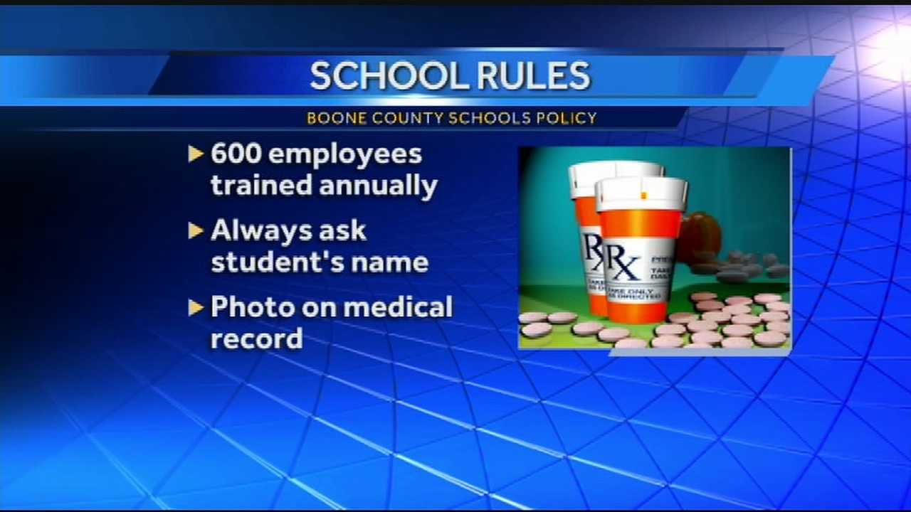 The 9-year-old student at Collins Elementary said he was mistakenly given medication when taken to the school nurse's office.