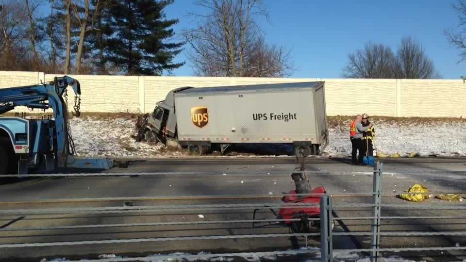 According to Loveland Fire Chief, a landscaping truck loaded with bags of salt ran out of gas on the highway and was rear-ended by a UPS freight truck. Both drivers were transported by ambulance to Bethesda North Hospital. Loveland Symmes firefighters cleaned up the salt and spilled fuel before opening up a lane to ease the rush hour traffic congestion.
