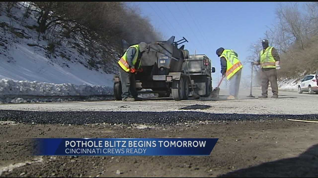 Road crews will be out in full force on Friday fixing the potholes all over the Tri-State. Officials said they have already received more than 2,000 complaints about potholes. Work to fix the potholes will last about four weeks.