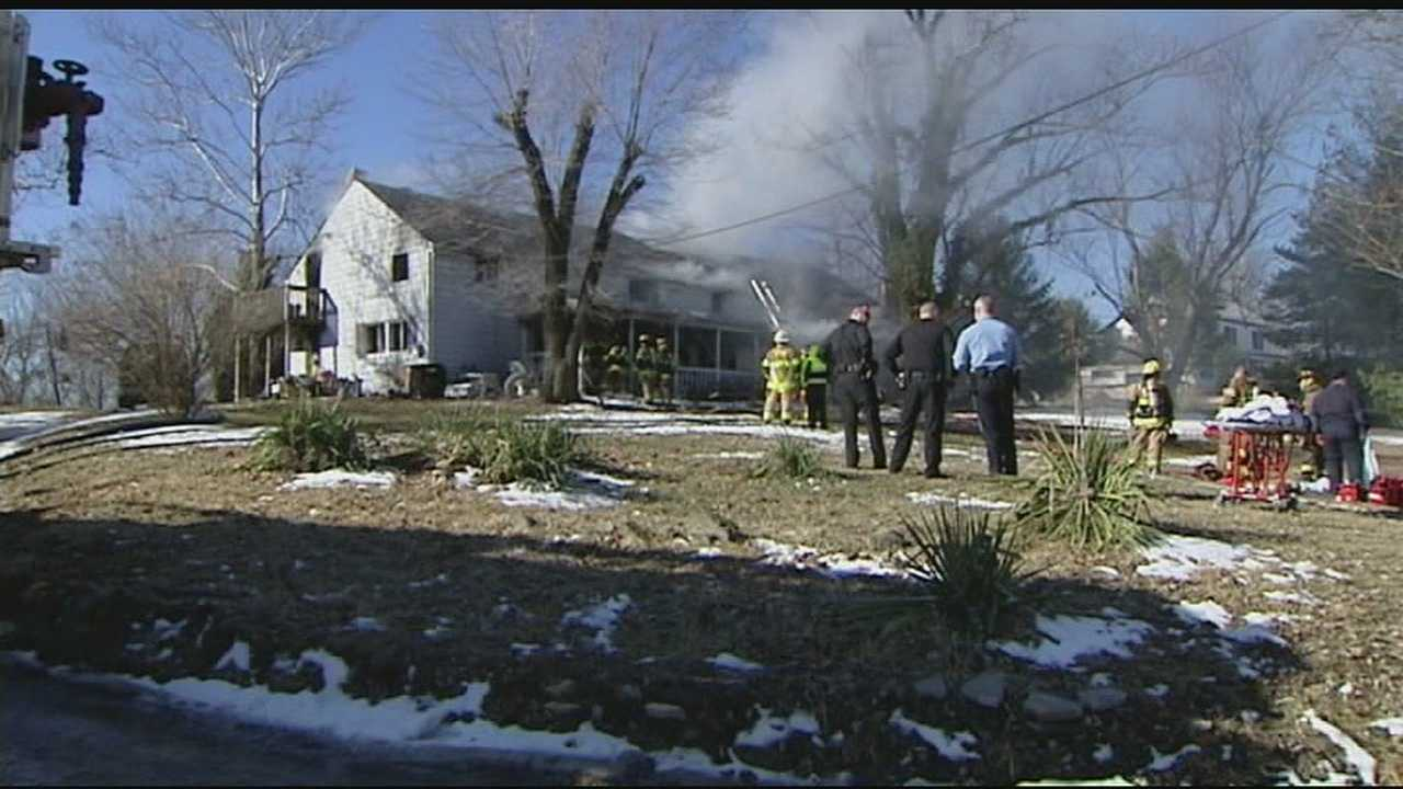 Crews were called to 2379 Uhl Road just east of Cold Spring shortly before 8 a.m. to find flames and heavy smoke coming from the home.