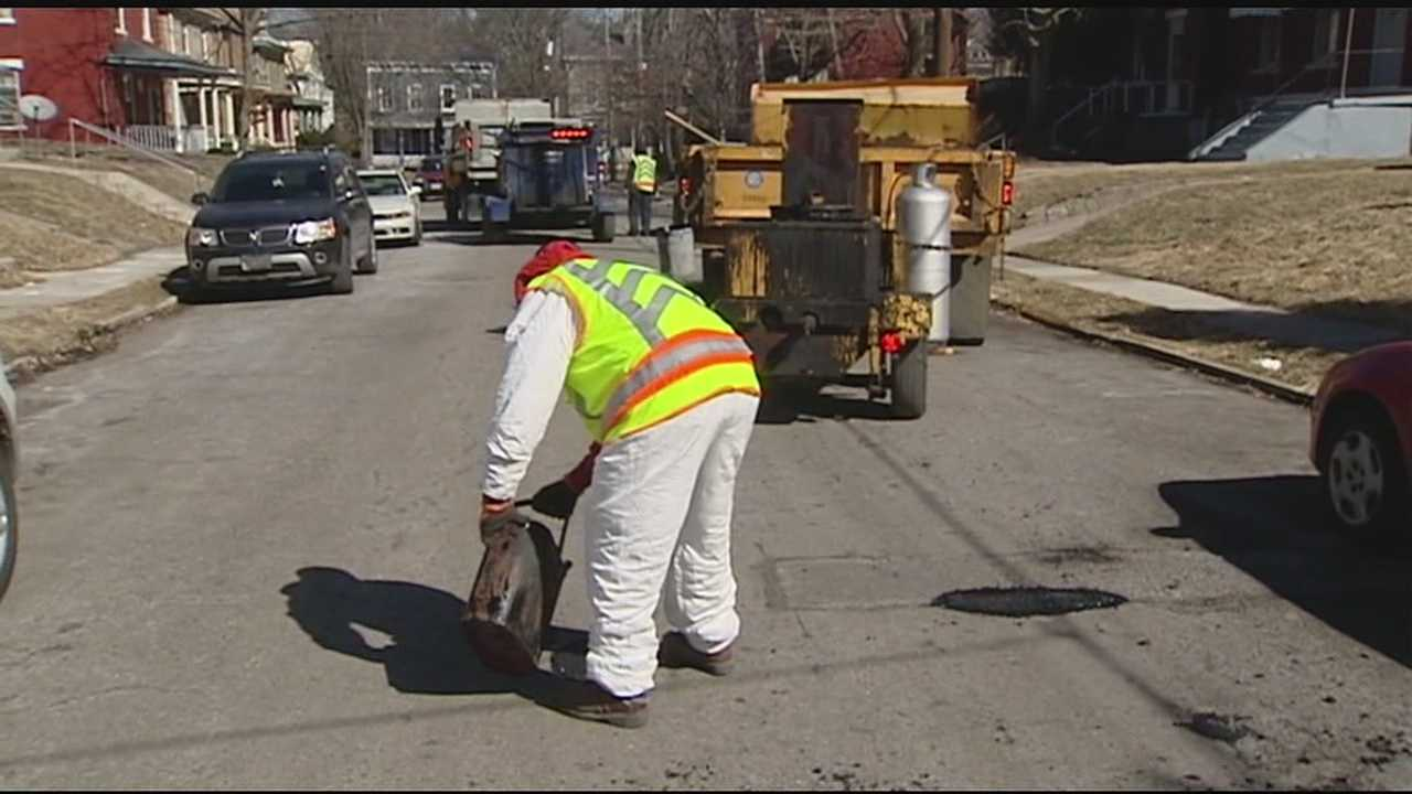 The beginning of an all-out blitz on potholes that would have doubled the number of crews on city streets was postponed Friday because of a scheduling conflict. It will begin at full strength next week.