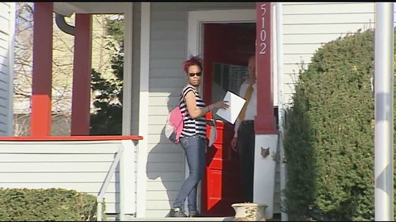 Porshia Brooks' friends and family members canvassed Carthage Avenue. They went door to door with flyers, along side Norwood police.
