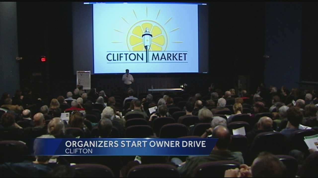 Community members kicked off a fundraising effort Saturday to open a community owned grocery store, or a co-op. The store would be called the Clifton Market. People raised money by selling shares of the Clifton Market at $200 a share. The project cost is estimated at around $2.2 million.