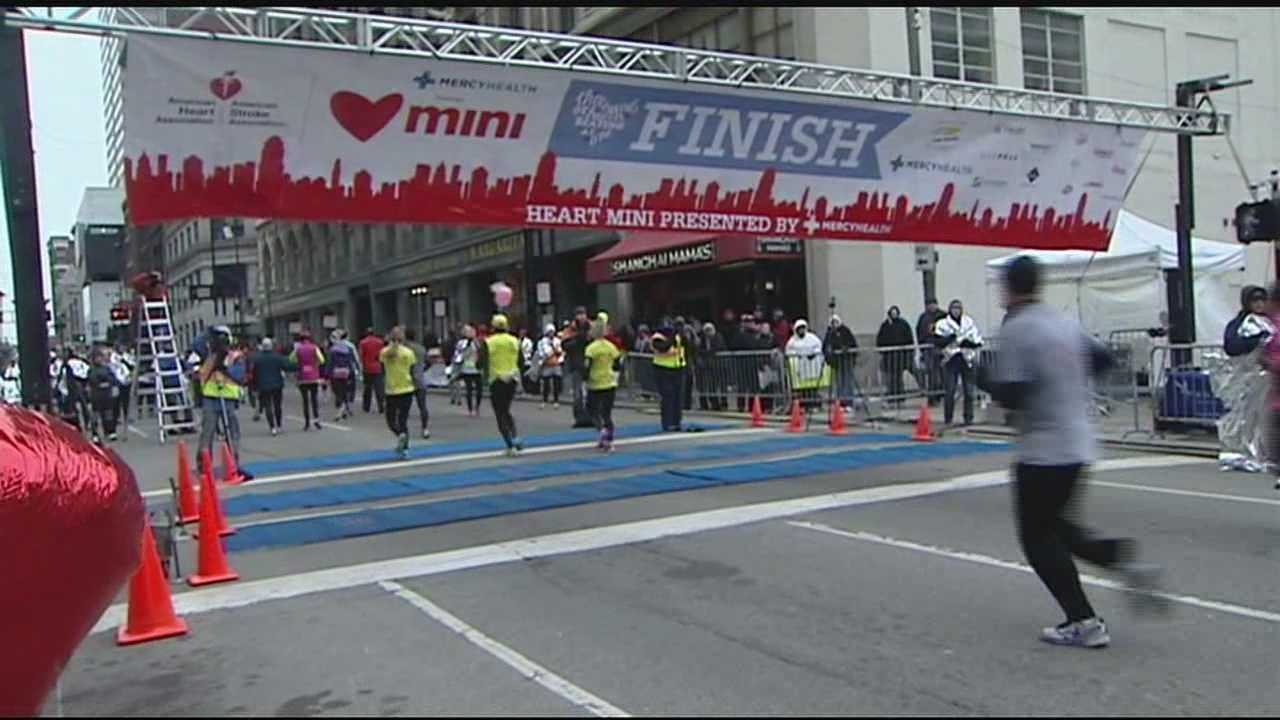 The event Sunday offered races for all ages. Organizers said that more than 25,000 people turned out Sunday to participate. All of the money raised during Sunday's Heart Mini Marathon went toward local research and to support local victims of heart disease.
