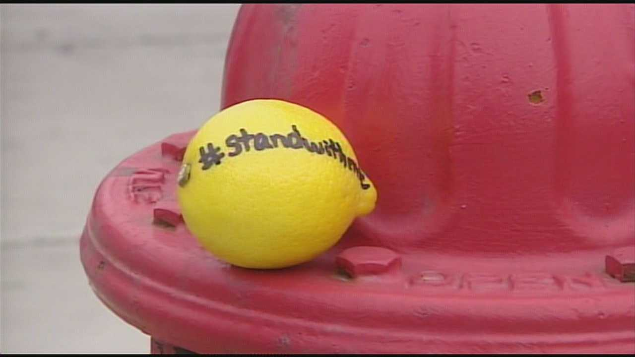 To help create a buzz about the film and bring awareness to the issue, students in the Wilmington High Interact Club decided to place lemons around town.