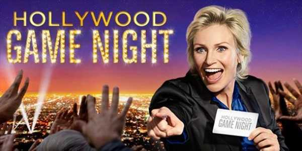 Hollywood Game Night: Tuesdays at 8:00 pm. Two contestants are transported from their everyday lives into a once-in-a-lifetime night of fun and celebration as they step beyond the velvet rope and rub shoulders with some of their favorite celebrities and compete for the chance to win up to $25,000.Hosted by Emmy Award and Golden Globe winner Jane Lynch.