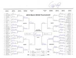 Click here to take a closer look at George Vogel's bracket