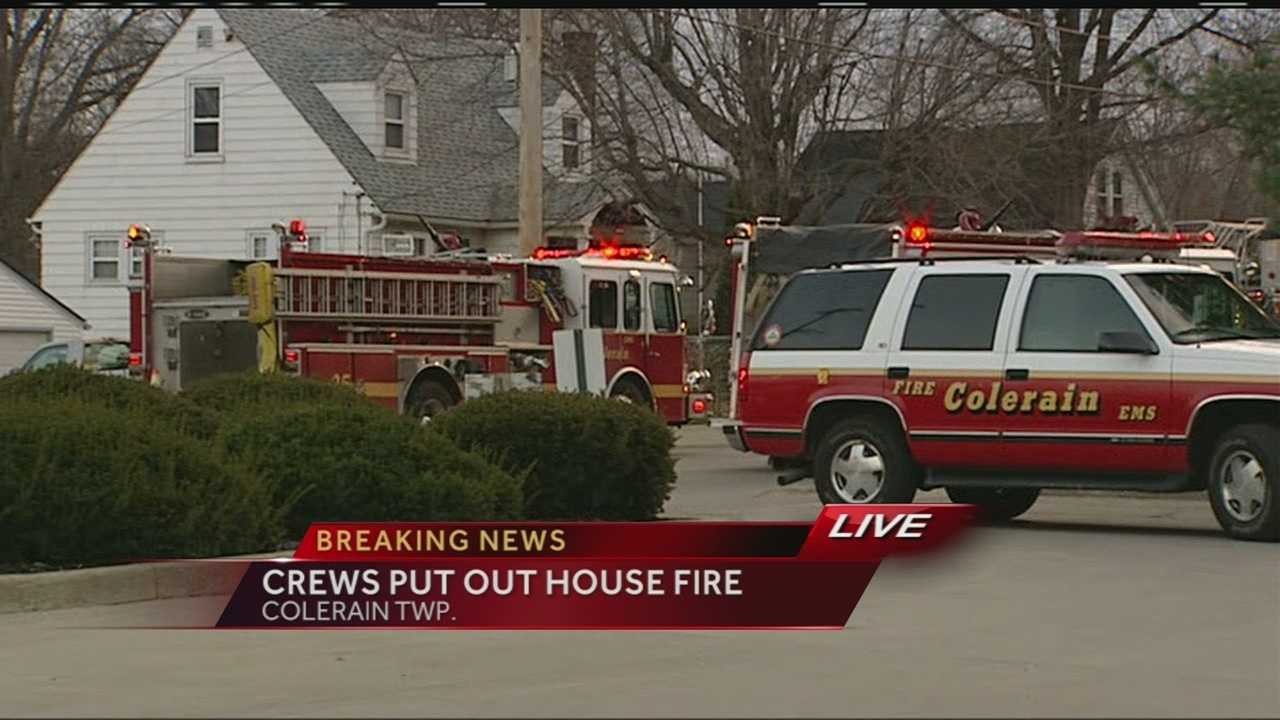 Fire crews battled flames at a home in Colerain Township