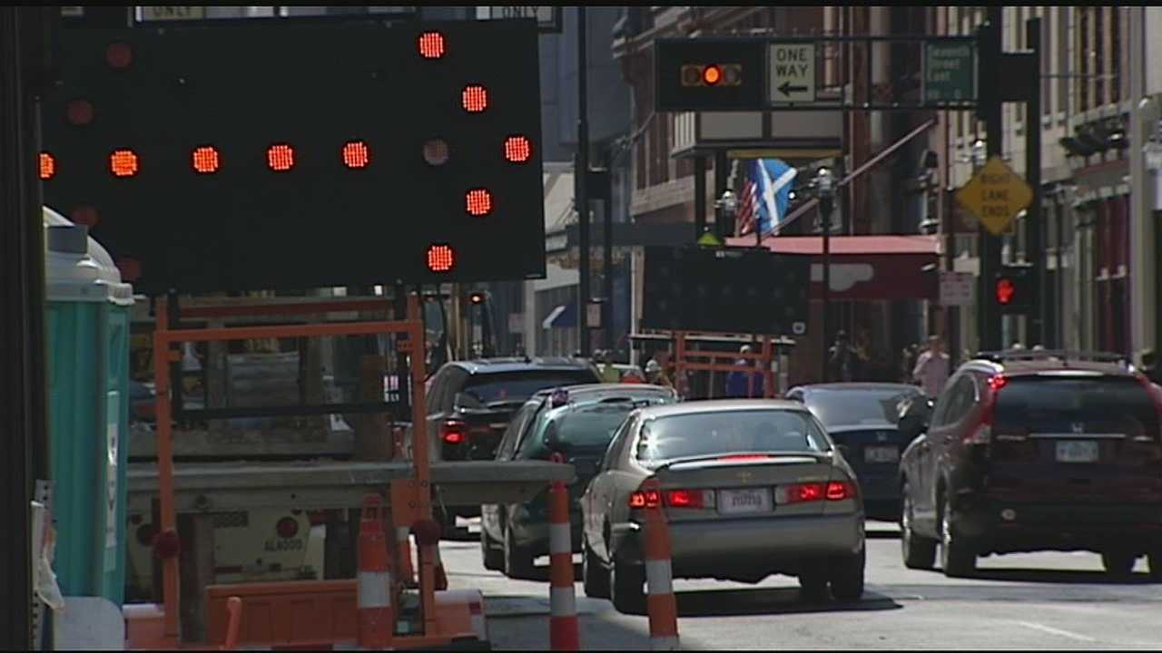 The orange barrels and construction equipment has taken over the streets of downtown. Utility relocation for the Streetcar and remodeling buildings downtown has traffic building up, but the city asks people to remain calm. City officials said the work is all in the name of progress.