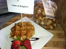 Taste of Belgium: Waffles with Chocolate or Strawberry toppings, Belgium Fries and Waffle 'n' chicken: Chicken Breast, Ohio Maple Syrup and Hot Sauce