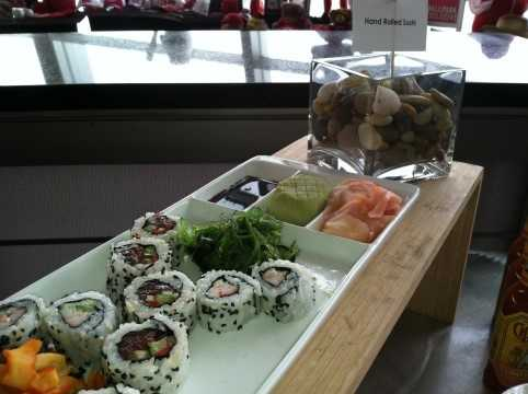 Hand Rolled Sushi: Variety available throughout the park