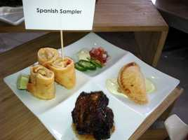 Spanish Sampler: Roasted Vegetable Empanadas, Carne Diablo Short Ribs & Chicken Taquitos