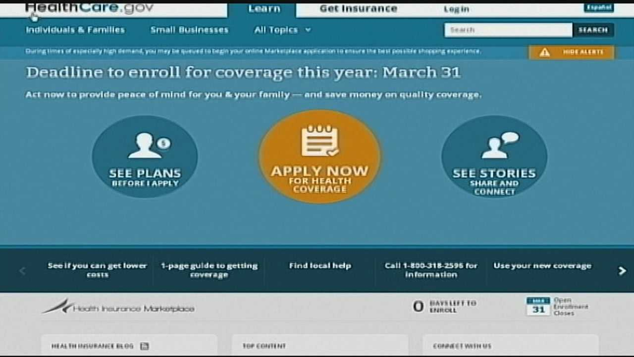 Across the country there has been a last-minute surge of sign-ups. According to healthcare officials, two million people flooded Healthcare.gov website. About 500,000 more bombarded the call center.